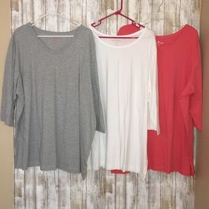 Lot of 3 NEW Woman within plus size tunics 26/28